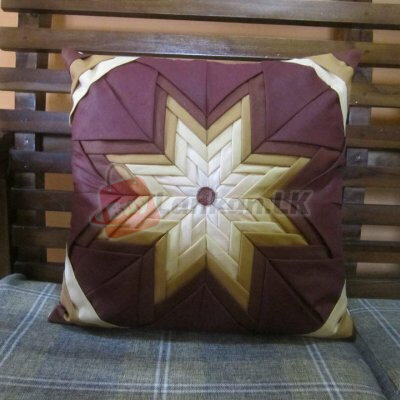 Lifted Star  Brown Shaded Cusion Cover  (16x16)