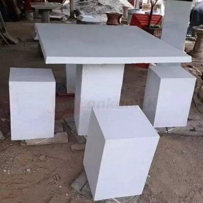 Concrete table and chairs set