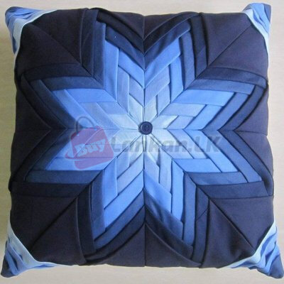 Lifted Star Blue Shaded Cushion Covers (16x16)