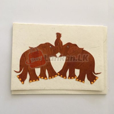 Eco friendly elephant friends/couple greeting card