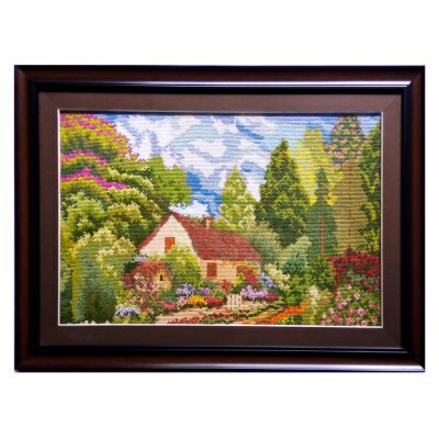 Handmaid Cross Stitch Scenery Sewing With Frame