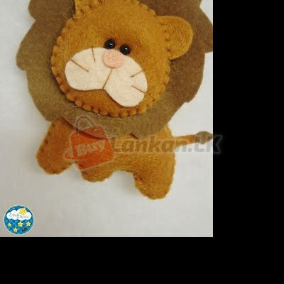 Felt Lion keytags