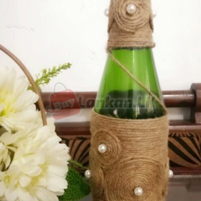 Decorate glass bottle