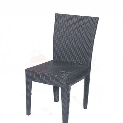 Outdoor/indoor rattan dining chair